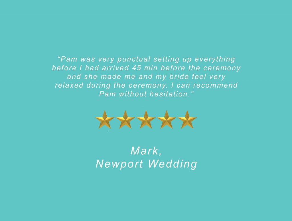 Your Unique Occasion Testimonial - Newport Wedding