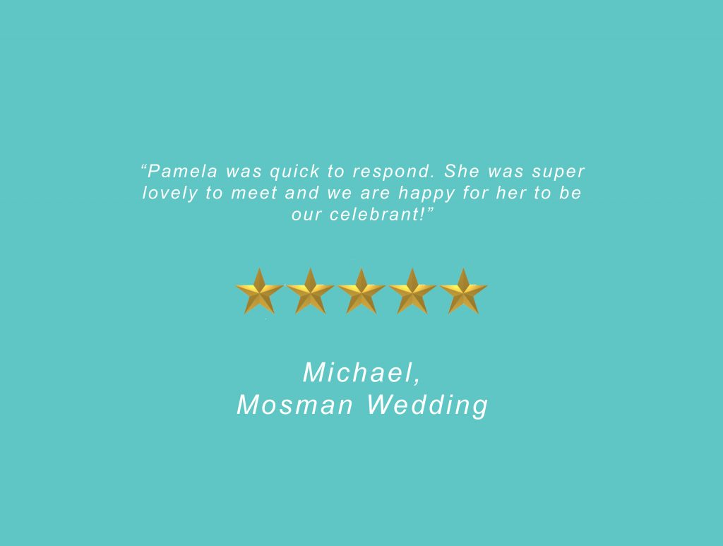 Your Unique Occasion Testimonial - Mosman Wedding