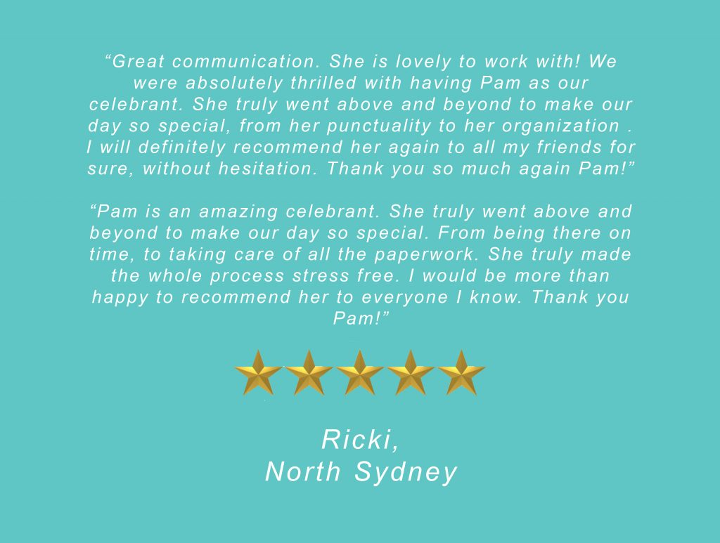 Your Unique Occasion Testimonial - North Sydney