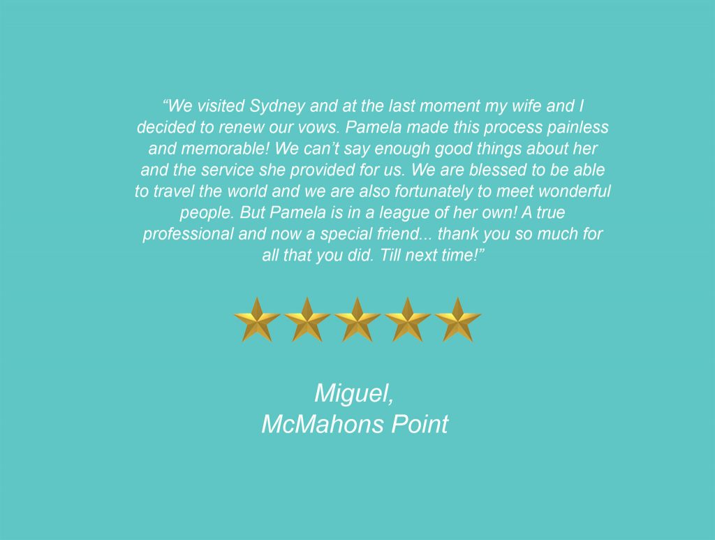 Your Unique Occasion Testimonial - McMahons Point