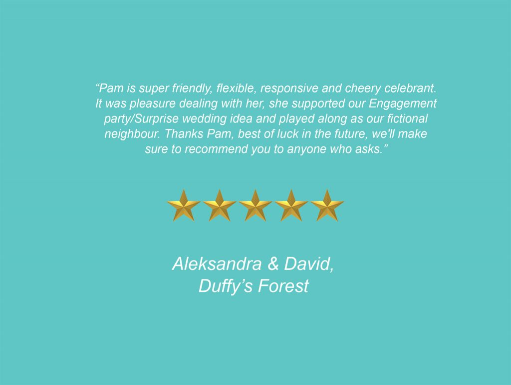 Your Unique Occasion Testimonial - Duffy's Forest