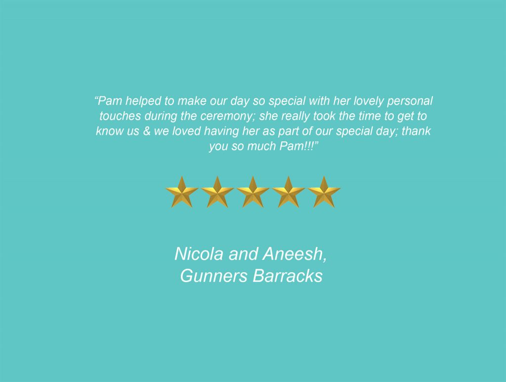 Your Unique Occasion Testimonial - Gunners Barracks