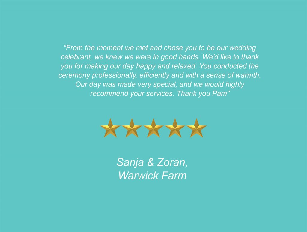 Your Unique Occasion Testimonial - Warwick Farm
